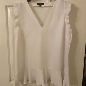 Banana Republic Tank with Ruffle Sleeves - Size L